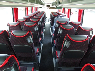 Darker style seating in a Silverdale coach