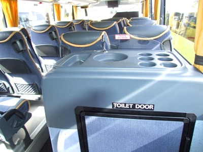 Interior of Silverdale coach showing toilet entrance